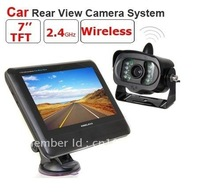 7 inch TFT LCD Monitor Wireless Car Rear View system With a Weather-proof Wireless Rearview IR Camera