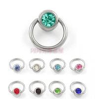 Anti-allergic . titanium medical steel stud earring ear hoop earrings needle earrings multi-purpose bcr universal ring