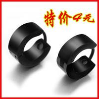 Titanium accessories fashion black male stud earring in ear earring small black earrings