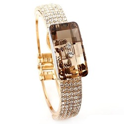 designer bracelet/bangle Austrian big champagne cubic zirconia Neoglory Rihood Trading BB-197 18K GOLD PLATE new arrival(China (Mainland))