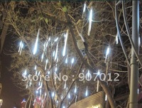 Mini led meteror light ,Free shipping 20LED*8PCS white LED meteror shower rain Tube lights outdoor tree decoration