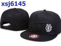 New Fashion Element 100% cotton adjustable snapback hats caps for sale black snapbacks hat cap