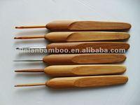 Bamboo and metal crochet hook needles