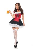 ML5242 Hot selling New Arrival  Free shipping  Christmas  costume Sexy German Beer maid costume