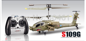 Free shippingSyma S109G Apache AH-64 3.5-Channels Mini Indoor Helicopter