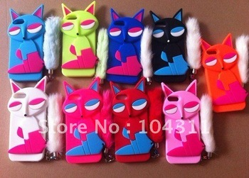 Silicone cartoon Fox case for iphone4g/5g