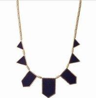 Fashion explosion models, personality the black geometry irregular pendant necklace