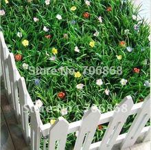 Buxo artificial tapete de plástico tapete de grama longa com flores 25 centímetros * 25cm(China (Mainland))