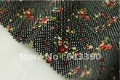 Free shipping New Arrival cotton fabric for DIY Water jade little sweet strawberry 150*50cm black perfect for patchwork NO.:FC33