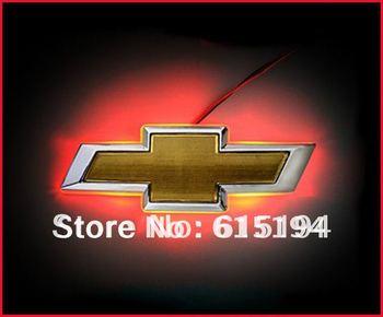 Красный цвет из светодиодов эмблемы логотип свет авто светодиодные лампы для Chevrolet