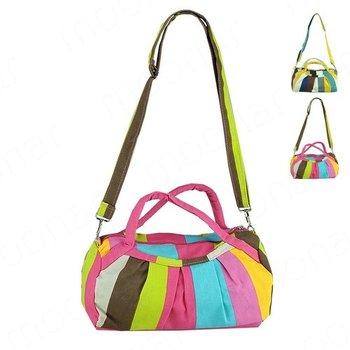 2012 Fashion Womens Canvas totes Shoulder Bags Stripe Casual Handbag Purse LB457