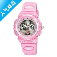 Dual display multifunctional submersible table electronic watch child watch waterproof 048g
