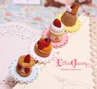 Elfinqueen handmade zakka accidnetal cream cake ring