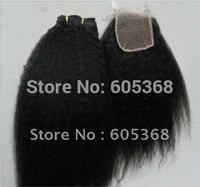 "kinky closure malaysian virgin hair lace closure 10-20 inch 130% density size 4""x4"" natural colour no dye"