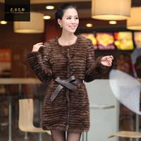 Chopop  Hot Sale Knitted mink fur coat Winter fashion fur overcoat Long style 2228 OEM Wholesale Price