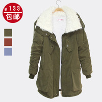 2012 winter thickening cotton-padded jacket plus size clothing wadded jacket medium-long cotton-padded jacket outerwear