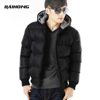 Men's clothing outerwear thickening male cotton-padded jacket fashion with a hood short design wadded jacket cotton-padded