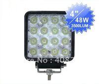 "4"" 48W Auto head lamp,LED excavator light also for suv lights led work light"