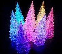Acryl flash colorful decoration Christmas tree light , Christmas small night lamp 10pcs