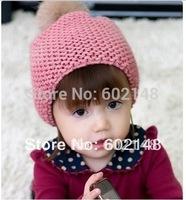 B Free shipping 1pcs/lot cute desgin highest quality  rabbit fur winter hat