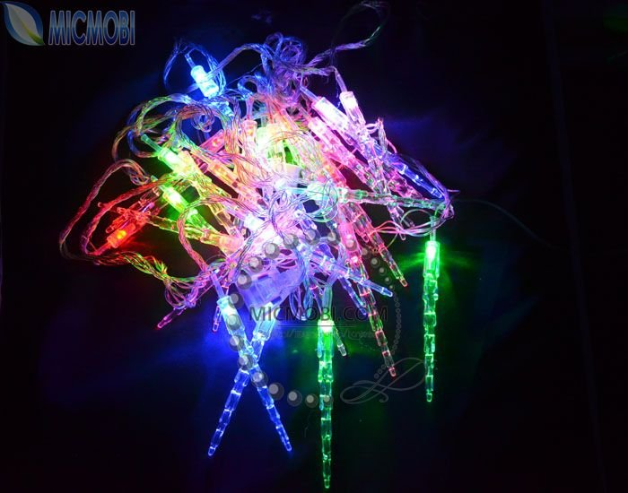 wholesale 5pc lot xmas rgb string lights 5m 30 led icicle lights for. Black Bedroom Furniture Sets. Home Design Ideas