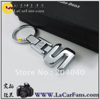 Top Quality  S,GL,GLK,ML ,CLC  Exquisite  Alloy Keyring Keychain With Gift Box  auto adornment  CAR logo FOR benz