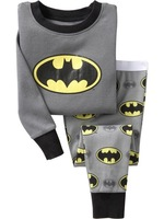Batman baby xmas pajamas kids jumpsuits long sleeve pajamas bodysuit kids sleepwear/underwear 6sets/lot+Free shipping