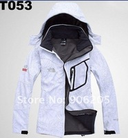 free shipping 2012 new Warm windproof jacket women the genuine fleece windbreaker outdoor ski suit jacket