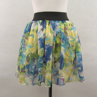 New All-match chiffon short skirt bust skirt puff skirt basic skirt lining Free Shipping