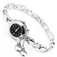Free Shipping Kimio Quartz Watch Fashion Wristwatches for Ladies or Women Vintage Heart Bracelet