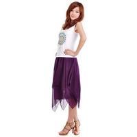 New Irregular bust  chiffon skirts bohemia medium  short  Skirt Free Shipping