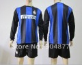inter milan home long sleeve soccer jerseys 12/13 seasons  soccer uniform shirts+ shorts top quality  free shipping