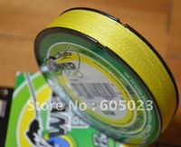 NEW  1pcs 500YD 30LB  Yellow 100% Spectra PE Braid fishing line