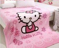 Hello kitty 150X200CM  baby air condition blanket coral fleece blanket children sleeping quilt comforter free shipping