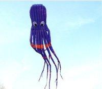 8m single Line Stunt Purple Parafoil Octopus POWER Sport Kite outdoor toys