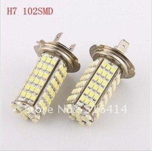 New! H7 102 SMD LED White H7 Car Fog light Headlight Bulb DC 12V 6000K-6500K
