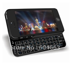 High Quality Bluetooth ultra-thin slide- out wireless keyboard for iphone 5, slider QWERTY keyboard made for iphone 5(China (Mainland))