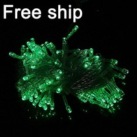 20pcs/lot Led Christmas light 220V Multicolor 10M 100 led string decorations holiday party lights Free shipping
