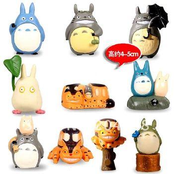 "Free shipping Cute My Neighbor TOTORO 2"" PVC Figure Toy (10 pcs/set )"