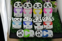 Wholesale 50pcs/lot New Arrive Cute Panda Silicone Mix Colors Soft Back Cover Shell Skin Case For iPod Touch 5 5G 5th