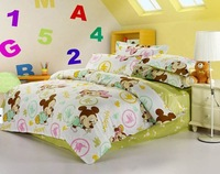 chidren's bedding quilt cartoon Printing Bed linen 4pcs duvet cover set