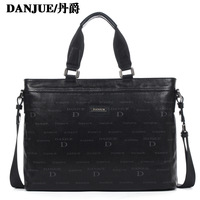 First layer of cowhide man bag handbag commercial shoulder bag 14 laptop bag 90010 - 1