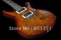 free shipping Custom 24 Rosewood Black Gold 10 Top Electric Guitar