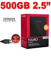 "New 500GB  Touro 2.5"" Mobile External Hard Disk Drive 500 GB USB3.0/2.0"