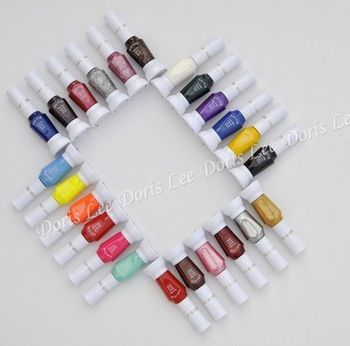Free Shipping,24 Colors 2- Ways Nail Art Brush & Nail Pen Varnish Polish Nail Tools Set