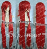 Hot sale ! New Popular Style Grell / kuroshitsuji Cosplay Long Red Wig W16
