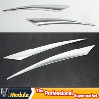 Free shipping Chrome Eyelid Head light Cover Trim for 09-11  Cheverolet Cruze 2pcs/set #KL12134