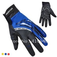 Blue! Thermal Fleece! 2012 MONTON Professional Cycling/Bike Windproof Full Finger Gloves-TF004 Free Shipping!