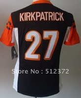 (can mix jersey)!!! Free Shipping! #27 Dre Kirkpatrick black  jersey women jersey name number all STITCHED(sewn on)