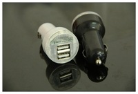 10pcs/lot High-Quality New Dual 2 Port USB Car Charger micro mini usb adapter 5v 2a DC for iPad iPhone 4G 4S iPod 2A HTC EVO 4G